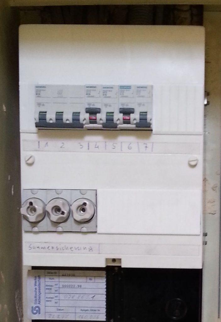 Neue Elektrosicherungsanlage